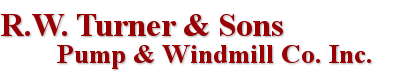 R.W. Turner & Sons Pump & Windmill Co. Logo